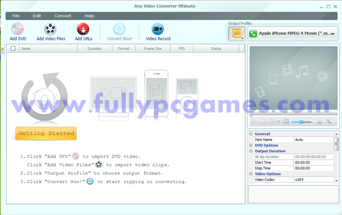 Any Video Converter Ultimate 4.3.7 Picture