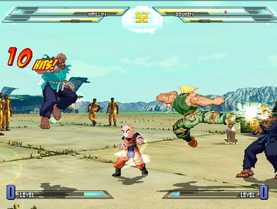 Dragon Ball vs Street Fighter 3 MUGEN Game picture 2