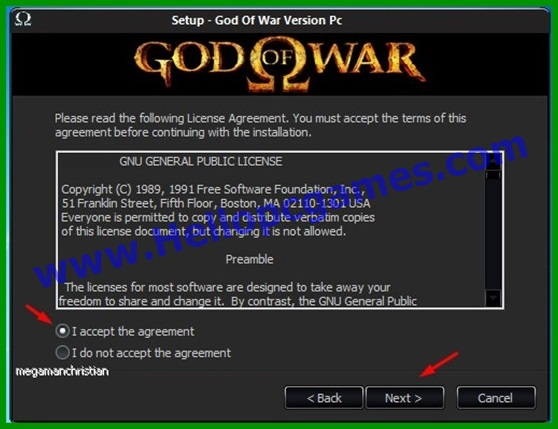 God of war 1 Game Installation steps 4