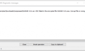 Problems With Password or Corrupt File Picture 1